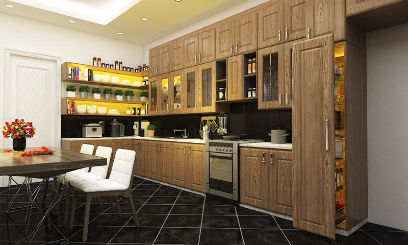 Phối Cảnh Phòng Khách, Bếp