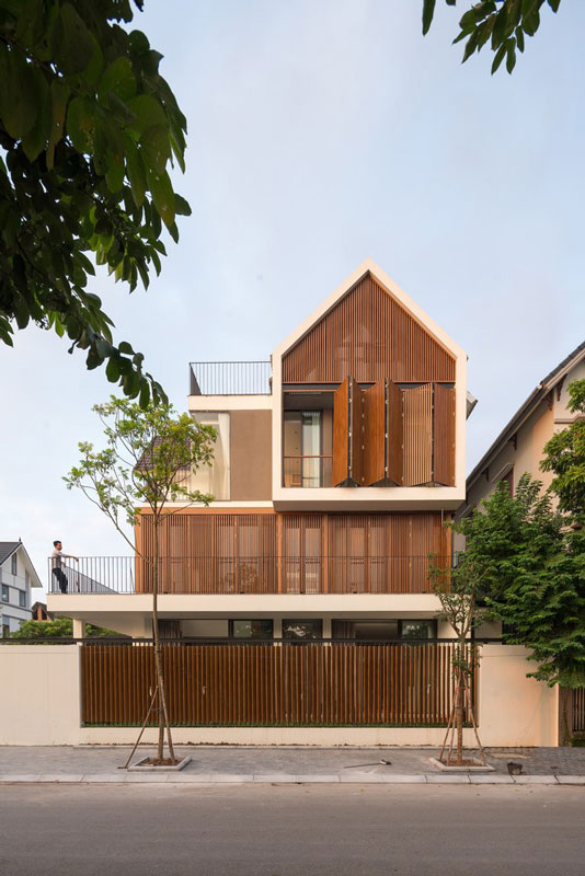 Giải pháp thiết kế chắn nắng cho biệt thự đẹp hiện đại hướng Tây