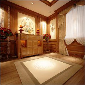 2. Thiết Kế Nội Thất Phòng Thờ ấm Cúng Và Trang Nghiêm2