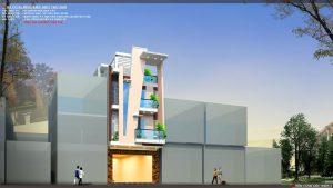 Thiết kế kiến trúc nhà phố (gia đình chị Vân) - góc nhìn B