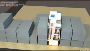 Thiết kế kiến trúc nhà phố (gia đình chị Vân) - góc nhìn F