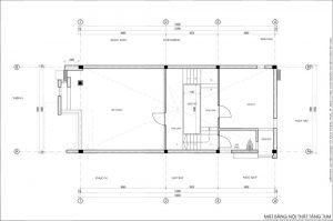 Thiết kế kiến trúc nhà phố (gia đình chị Vân) - mặt bằng tầng tum