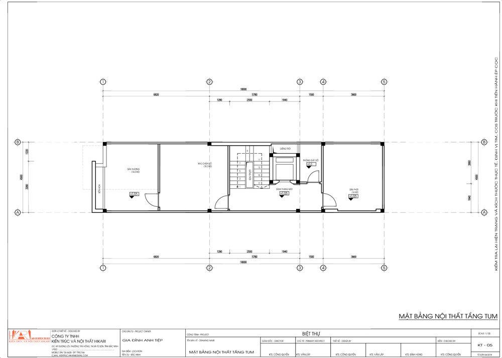 Thiết kế kiến trúc nhà tầng tại Bắc Ninh