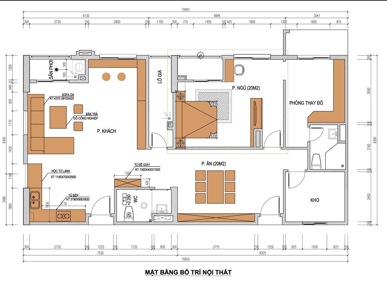 Thiết kế thi công nội thất nhà tại Bắc Ninh