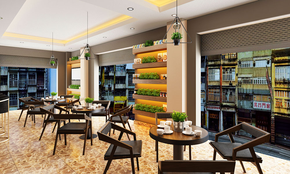 Thiet Ke Noi That Cafe Nha Chi Ly TANG 1 V2