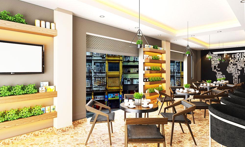 Thiet Ke Noi That Cafe Nha Chi Ly TANG 1 V6