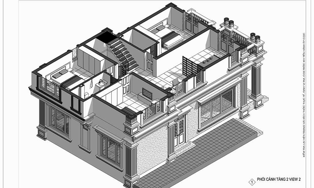 Thiết kế kiến trúc biệt thự cho gia đình chú Minh