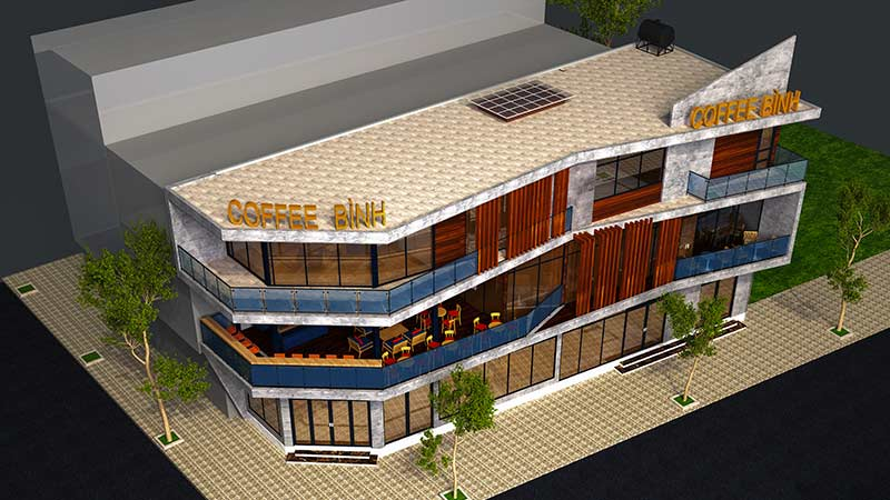 Nha O Gia Dinh Ket Hop Kinh Doanh Cafe Va Nha An 14