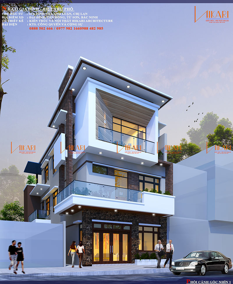 Mau Thiet Ke Nha Pho 3 Tang Tai Bac Ninh 17