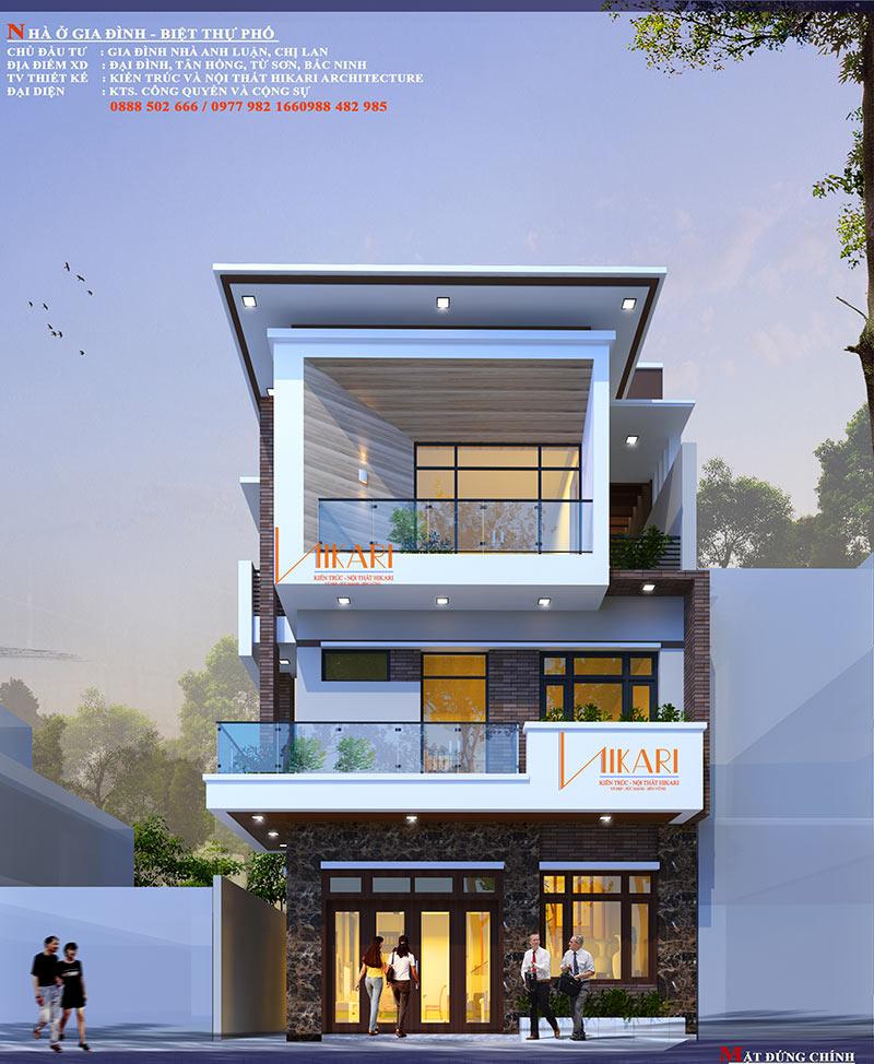 Mau Thiet Ke Nha Pho 3 Tang Tai Bac Ninh 18