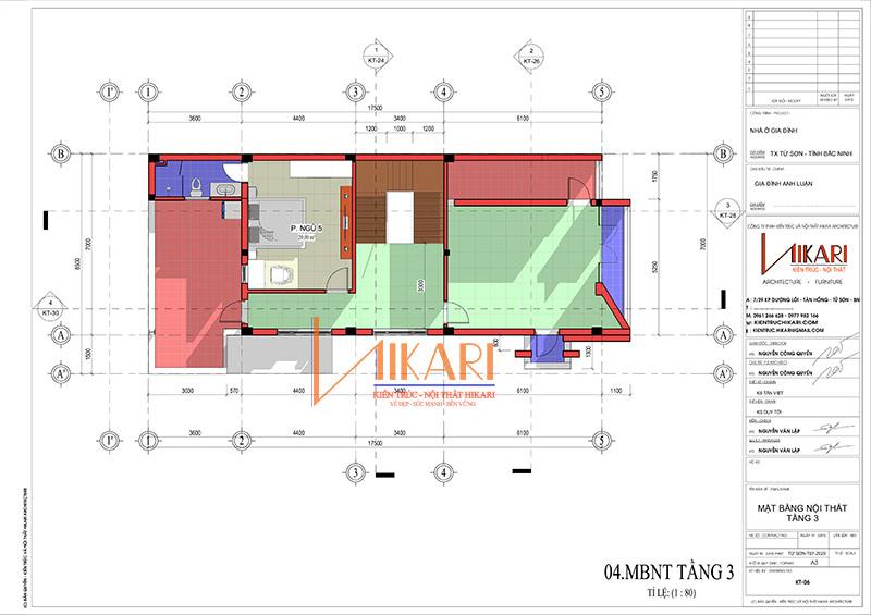 Mau Thiet Ke Nha Pho 3 Tang Tai Bac Ninh 2